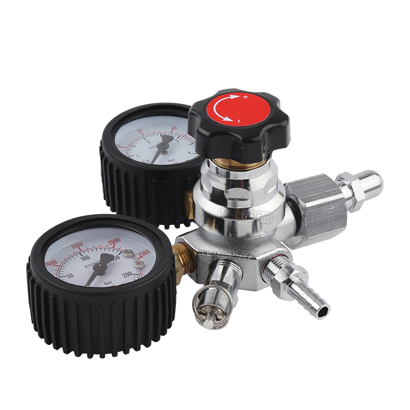 Hoge Kwaliteit G5/8 Co2 Regulator Dual Gauge Tapbier Drank Kesoda Homebrewgging