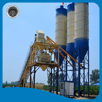 CE ISO certification used HZS120 concrete batching plant price