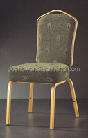 2015 modern comfortable style brushed stainless steel dining chair with hand carved cane back