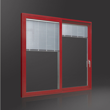 Double Glazing with Built-in Blind Sliding Door
