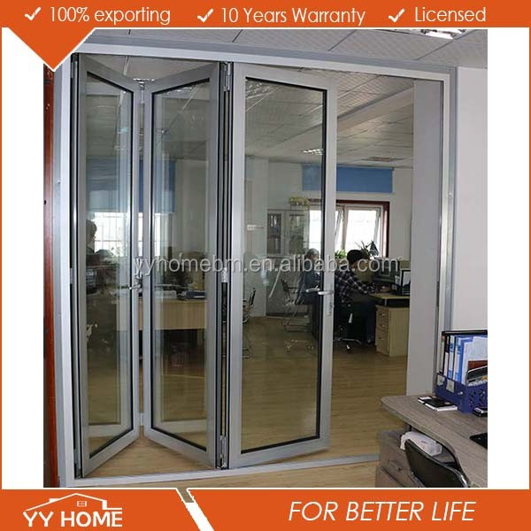 High quality well design aluminum hinges folding sliding glass doors special for Australia