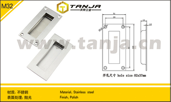 TANJA Hindden door handle/ industial stainless steel handle for machine