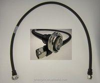 "1/2"" super flexible jumper cable with DIN Male connector at one end and N Male connector at the other end, 3 meters"