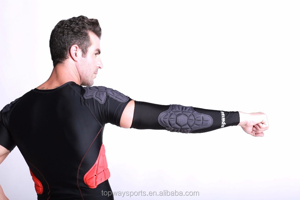 High Quality Crashproof Antislip Hand Arm Elbow Sleeve Protective Copper Compression Pad