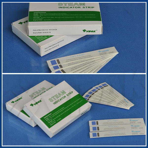 Medical consumable Chemical autoclave Indicator steam sterilization strips