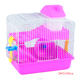 Luxury translucent base plastic wire mesh amusement hamster mice cage