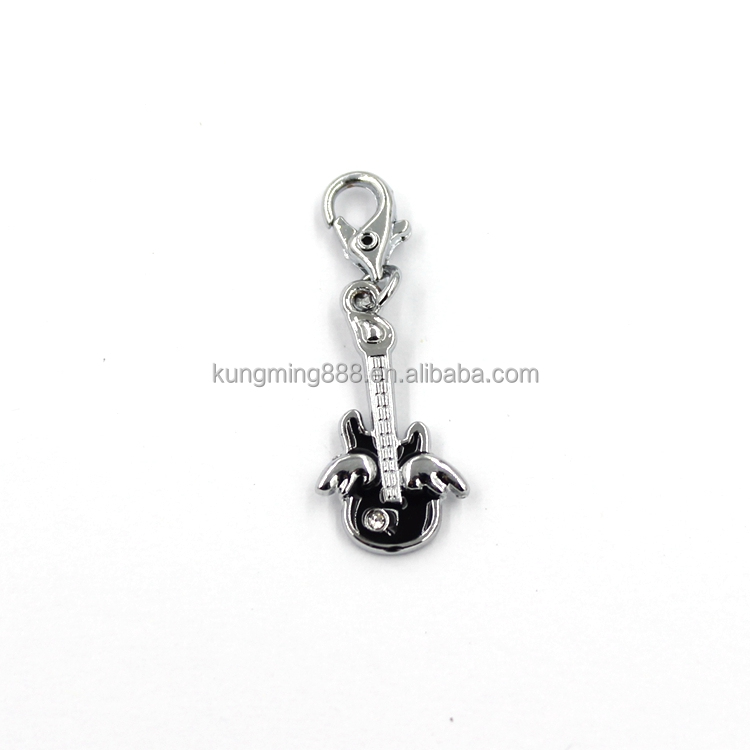 wholesale factory price novel guitar shape design charms with Lobster clasp