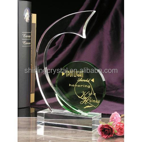 good design graceful crystal trophy for souvenirs gifts