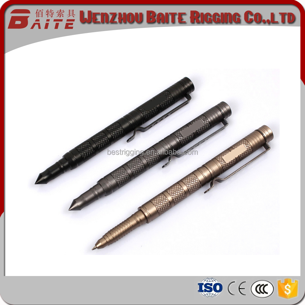 Aluminum nice multifunctional metal writing tools with high performance and bodyguard for emergency / Tactical Pen for safeguard