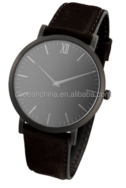 China supplier! black metal watch men 2015