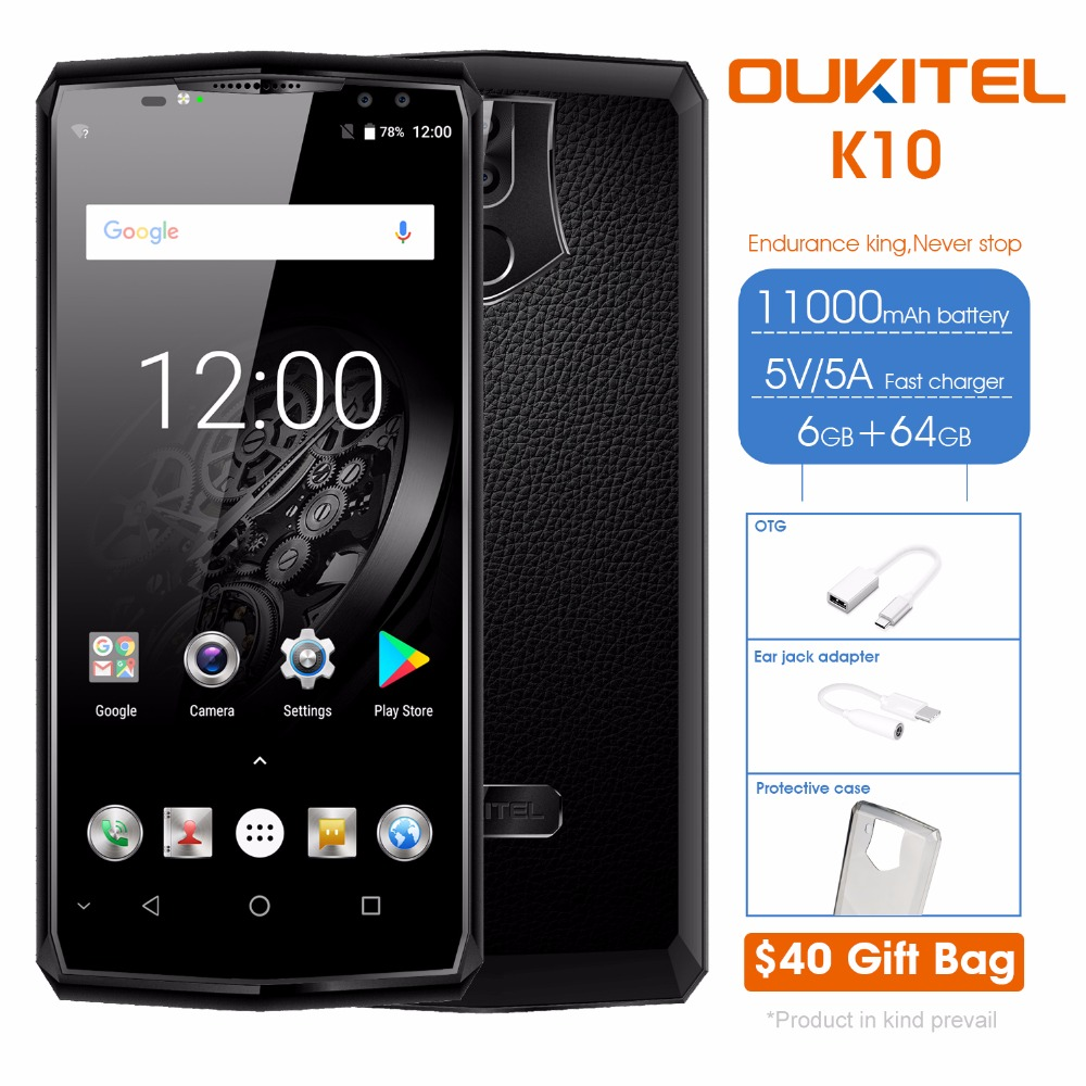 2018 New 6GB+64GB OUKITEL K10 11000 mAh Battery 6.0 inch <strong>Android</strong> 7.0 OUKITEL Smart <strong>Phone</strong> online shopping mobile <strong>phones</strong> 4g
