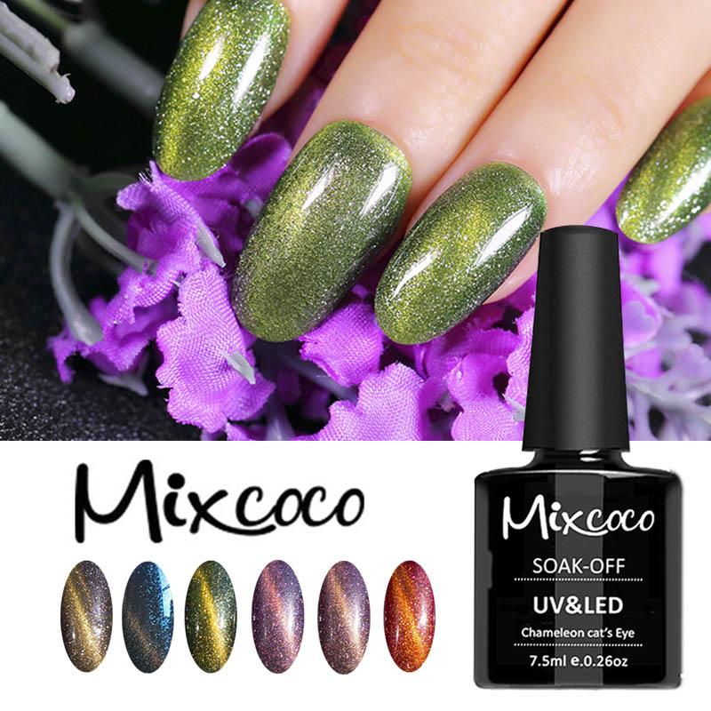Nail Art Supplies Nail Gel Polish Brands Mixcoco Cat Eye Color Gel ...