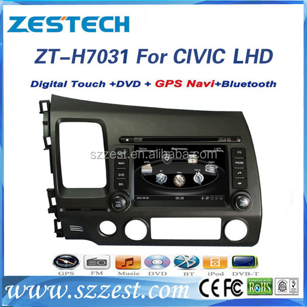 A8 chipset 800Mhz 7 inch auto spare parts for honda civic car monitor car sat navi headunit with 3G support IPOD Mp3 player 1080