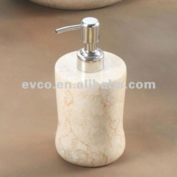 Champagne Marble Liquid Soap Dispenser - Curvy Collection