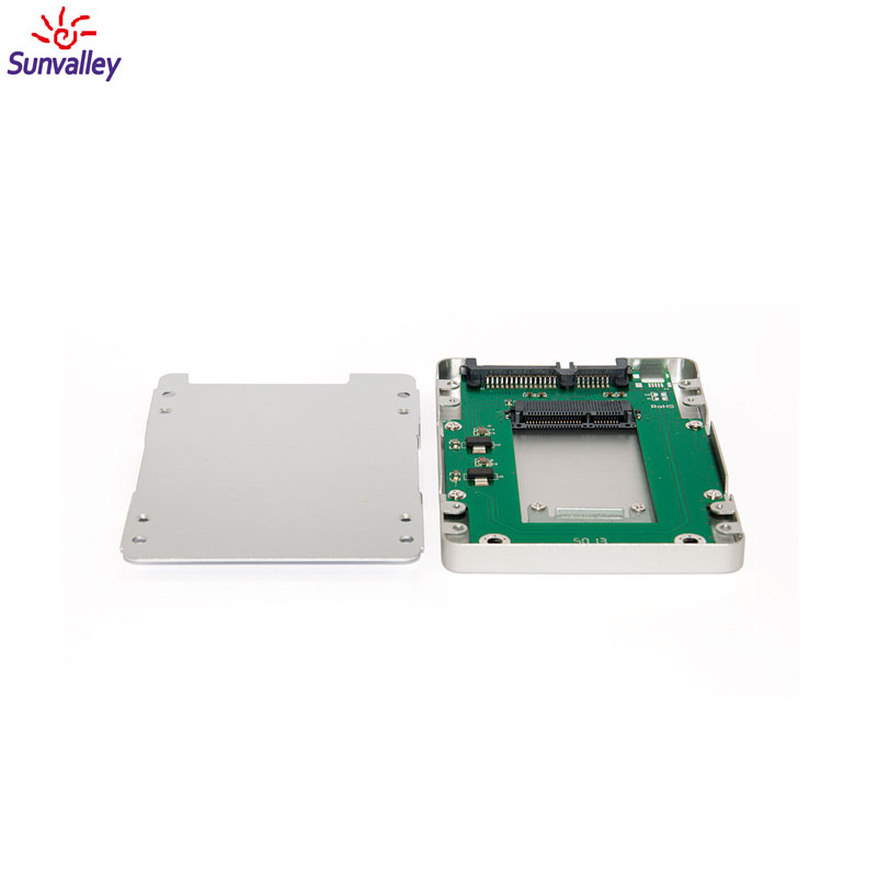 Manufacturer Aluminum SSD Case mSATA SSD To SATA 1.8' hdd to 2.5 adapter OEM Solid State Drive Adapter