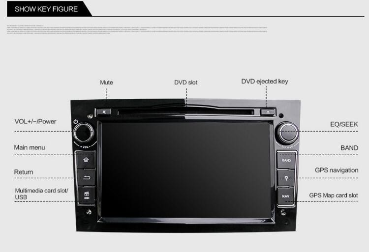 Hifimax car dvd for opel astra/opel antara car radio mp3 player/opel astra car multimedia Black Color