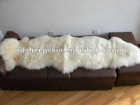 Natural White Sheepskin Double Rug Long Wool New 2P
