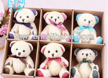 Looking good Birthday present cute teddy bear with ribbon /mini rabbit for 2014