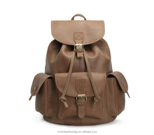 Custom Top Grain Vintage Genuine Leather Laptop Leather Backpack 8891