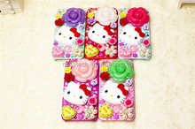 funky hello-kitty Crystal Bling Phone case for Iphone 5/5s
