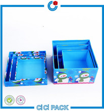 High quality christmas gift packaging box / christmas decorations package