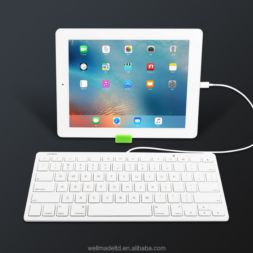 [MFi certified] Omars Wired Keyboard for Apple iPad with 8-pin connector