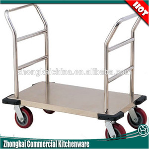 Folding Stainless Steel Trolley/Heavy Duty Platform Industry Handing Cart