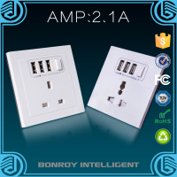 Wall switch socket high security extra durable uk wall socket
