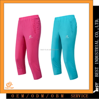 Newest Summer woman Quick Dry Bearthable 3/4 short sports Pants
