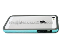 bumper slim case with PU leather hot design for iphone5/5s