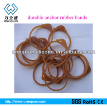 Wire-hardness durable anchor rubber bands for vegetable