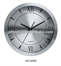 large size metal clock, home or office analog metal wall clock