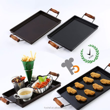 Black & Coffee Color Tin Serving Tray Top Used For Fast Food Restaurant & Hotel