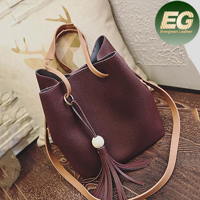 2017 best selling women open work tote bags vintage bucket shoulder bag high quality pu shoulder bag SY7612