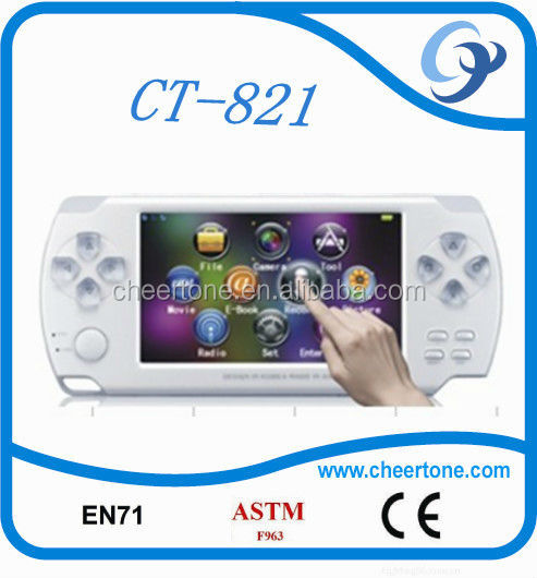Touch screen vedio handheld game player puzzle game console