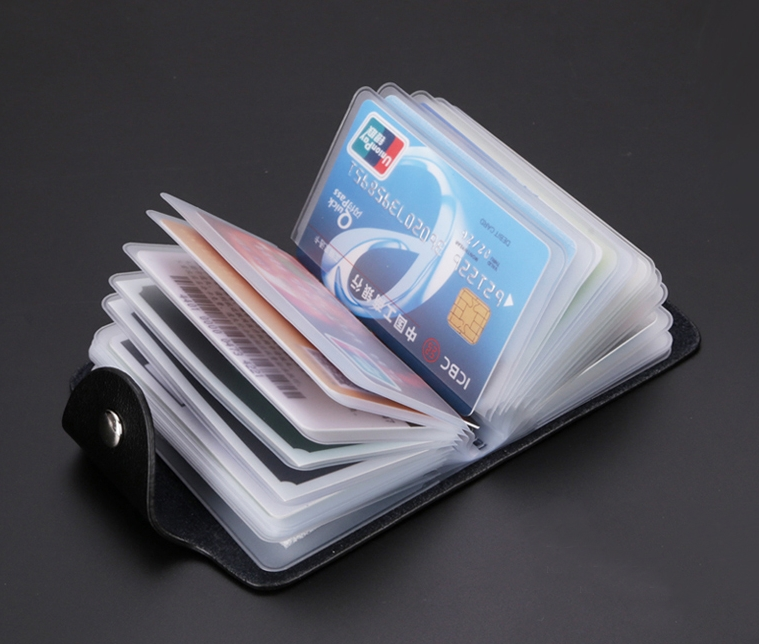 Small popular leather wallet rfid credit card holder