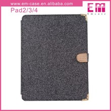 Glitter Pu Pattern Bling Wallet Leather Case For iPad Mini,Flip Cover Case For Ipad