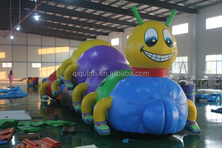 Hot sale funny colored Caterpillar inflatable for sale