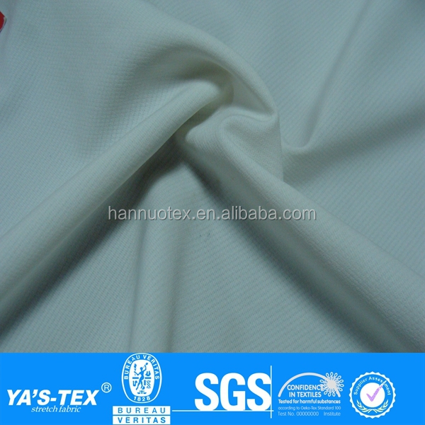 Pure White dry fit sport fabric,92 polyester 8 spandex fabric,white polyester fabric sublimation