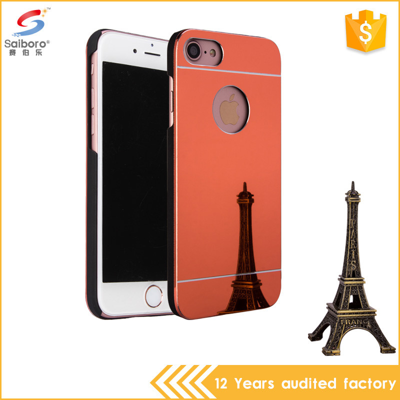 Trade assurance pc mirror electroplating case for iphone5