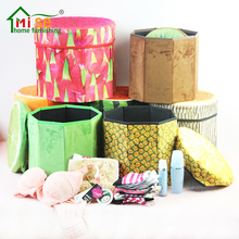 Custom Creative Multifunctional Stool Folding Fruit Storage Stool Feet Plush Thickened Stool