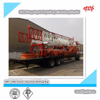Water Drilling Machine SPT1500 Trailer-mounted Drilling Rig