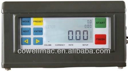 electronic flow meter counter digital LCD display with patch control