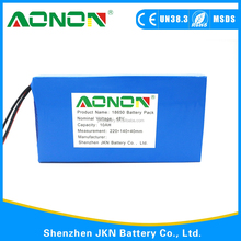 Rechargeable lithium ion Electric Batteries Pack 48v 10Ah 12Ah 15Ah 20Ah