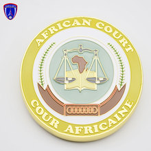 Custom 4 inch Tanzania plauqe Gold medallion for African court