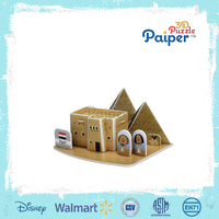 Egypt house foam puzzle 3d pyramid toy