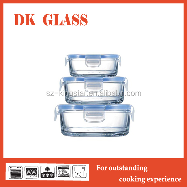 new arriving thermal food glass containers for food made in china