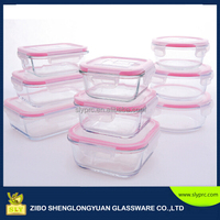 Pyrex glass storage with BPA-free plastic storage lids/glass food container set