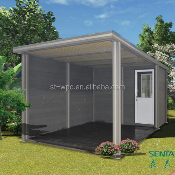 Low labour cost environmental prefab wooden container house