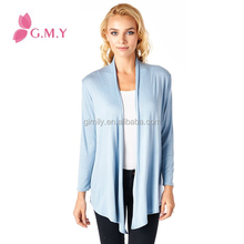 Women Super-Soft Open Front Drape Cardigan clothing manufacturers